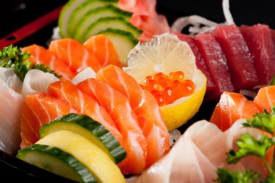 De beaux sashimis